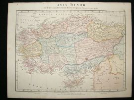 Asia Minor: 1864 Antique Map, Aaron Arrowsmith